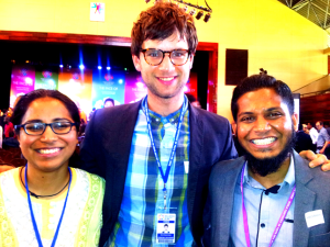 Roli, David and Husni at WCY2014