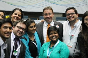 Badging of UNEPs head Achim Steiner